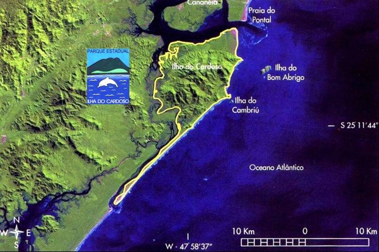 Mapa Ilha do Cardoso